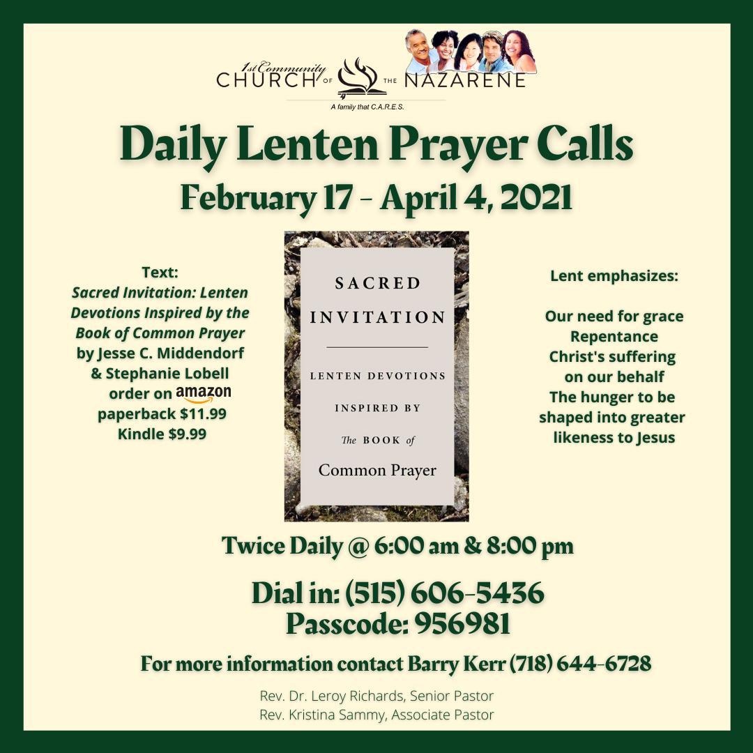 Lenten Devotional