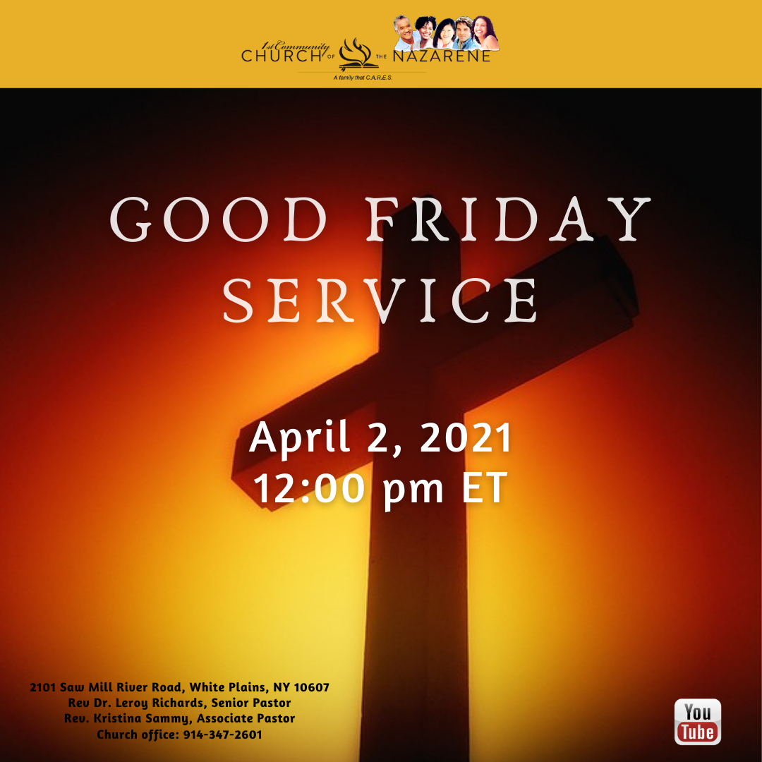 Good Friday Service Click Here to Watch