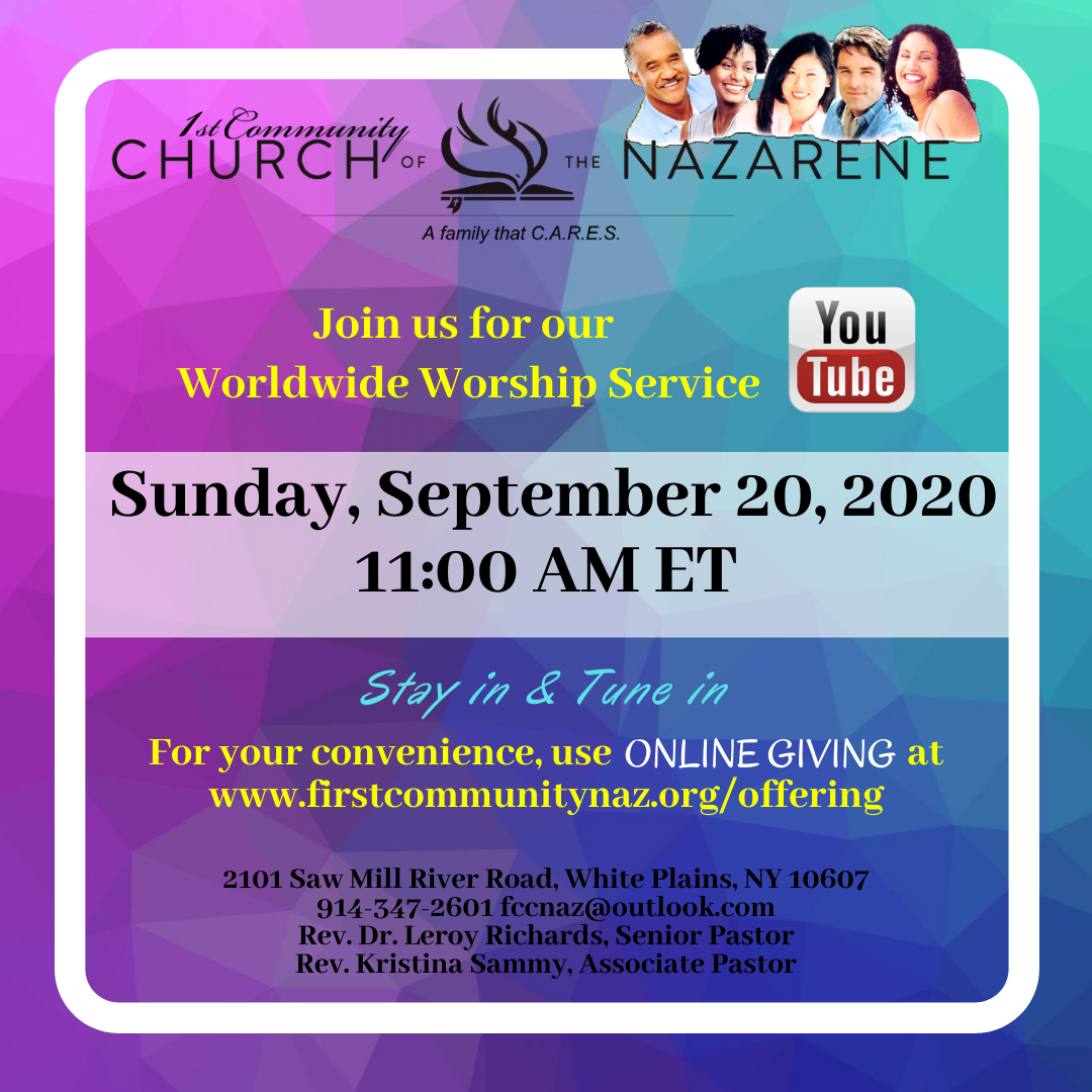 Join Us on YouTube for Service