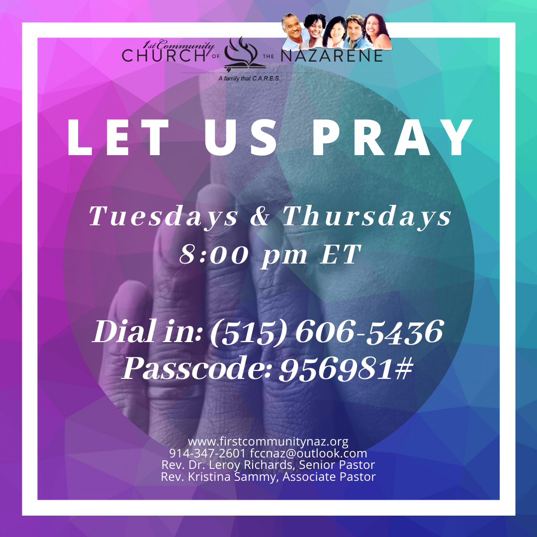 Weekly Prayer Tuesdays and Thursdays