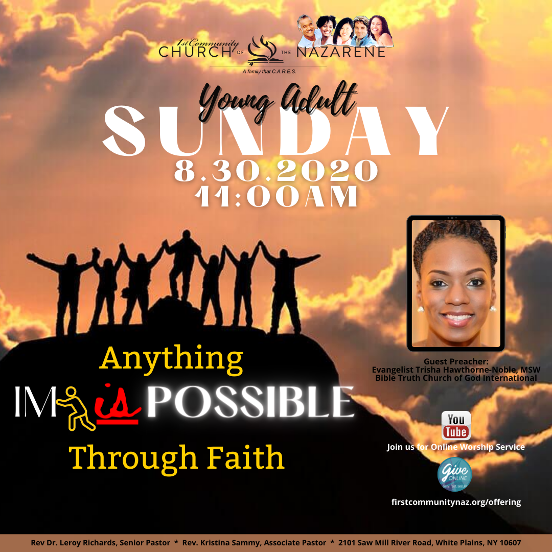 Increase Your Faith with a Special Young Adult Service