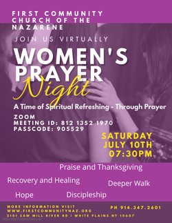 JOIN US ON ZOOM FOR WOMENS PRAYER NIGHT