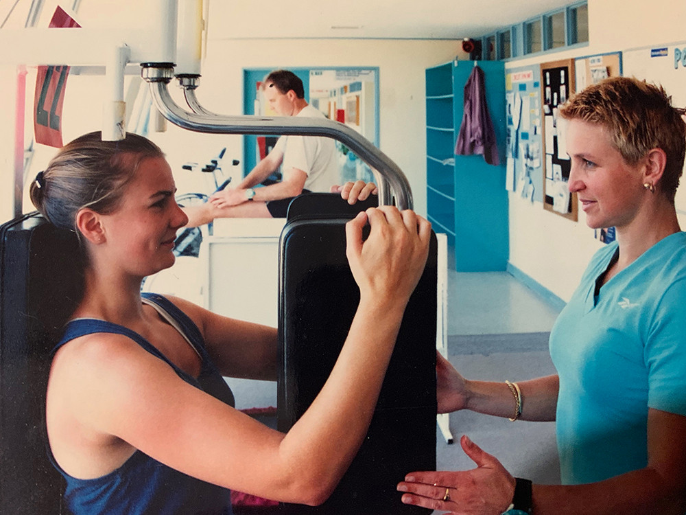 Moana Pool Gym, Cindy Personal Trainer, maybe 1996