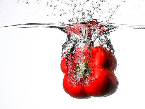 "Red pepper splash V - 8x10"" print"