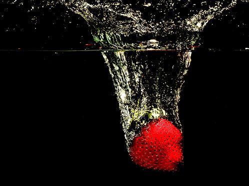 """Strawberry splash V - 8x10"""" print"""