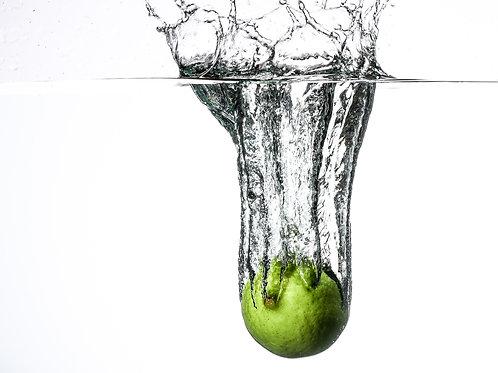 Lime splash IV - 8x10 print