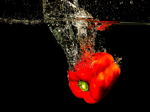 "Red pepper splash II - 8 x10"" print"