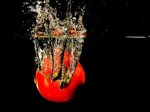 """Tomato splash I - 8x10"""" print"""