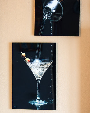 Double Play - Martini - Two metal prints
