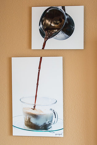 "Double Play - Cafe con leche - Two metal prints 30x20"" - 20x16"""