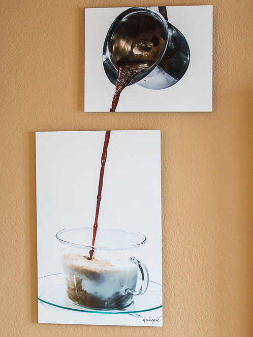 Double Play - Cafe con leche - Two metal prints
