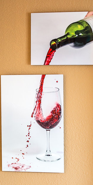 Double Play - Wine - Two metal prints
