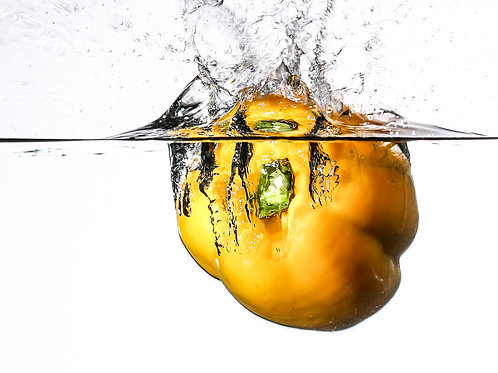 "Yellow pepper splash IV - 8x10"" print"