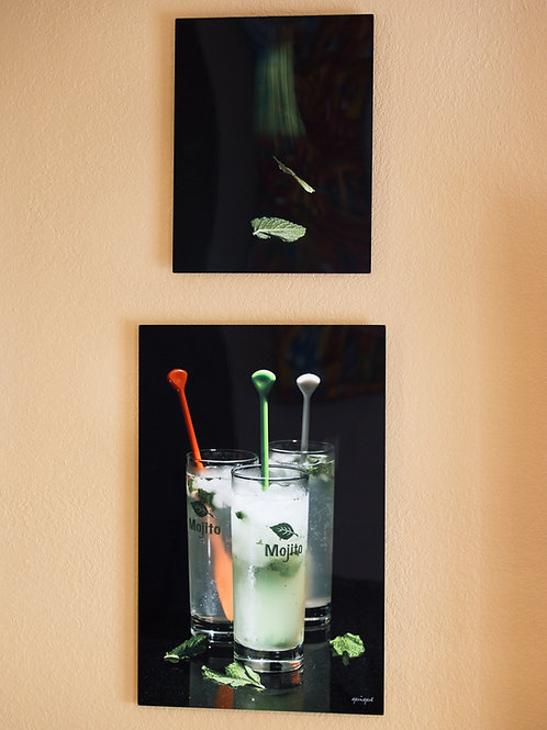 "Double Play - Mojito - Two metal prints 30x20"" - 20x16"""