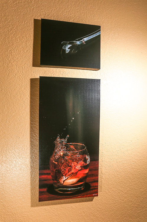 "Double Play - whisky- Two canvas 32x16"" - 12x16"""