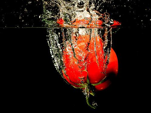 "Tomato splash II - 8x10"" print"