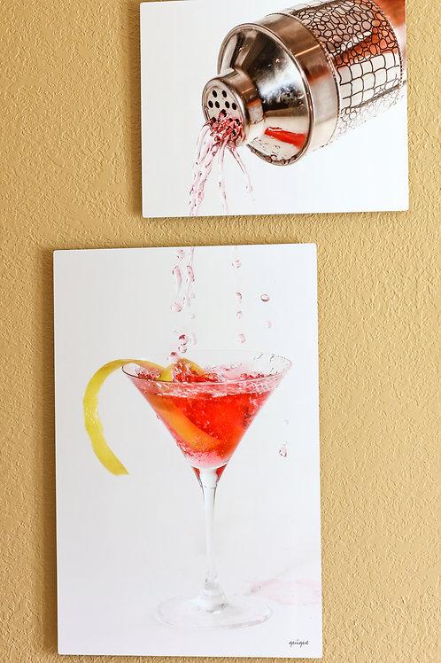 "Double Play - Cosmopolitan Martini - Two metal prints 30x20"" - 20x16"""