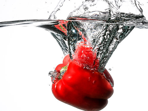 "Red pepper splash II - 8x10"" print"