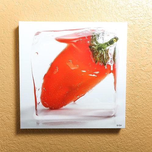 "Ice cube - Orange pepper III - canvas 14x14"""