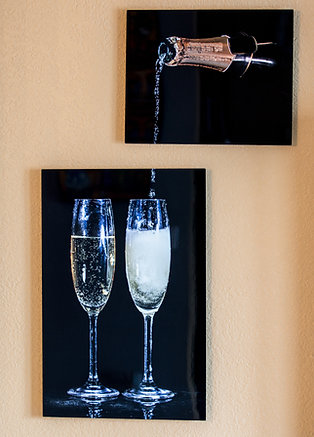 Double Play - Champagne III - Two metal prints