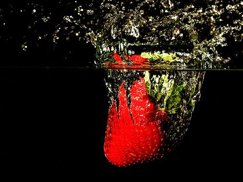 """Strawberry splash I - 8x10"""" print"""