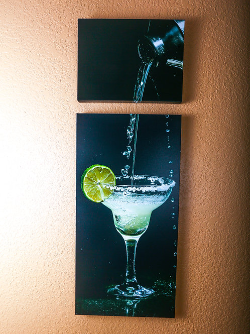 "Double Play - Margarita - Two canvas 32x16"" - 12x16"""