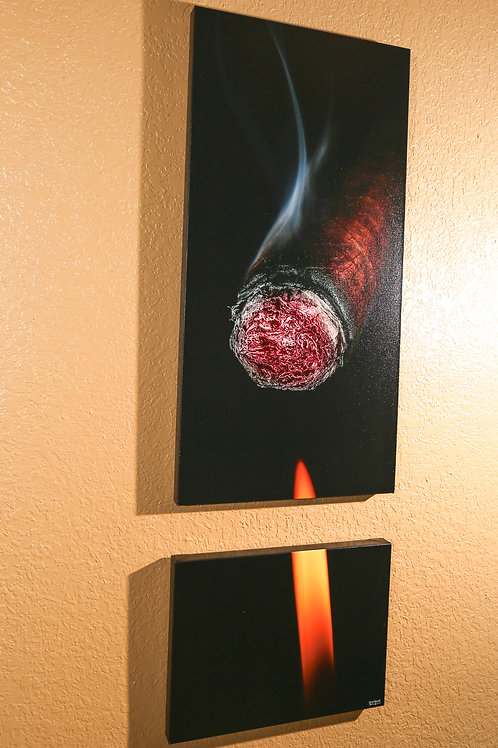 "Double Play - Tobacco III - Two canvas 32x16"" - 12x16"""