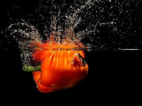 Orange pepper splash - 8x10 Print