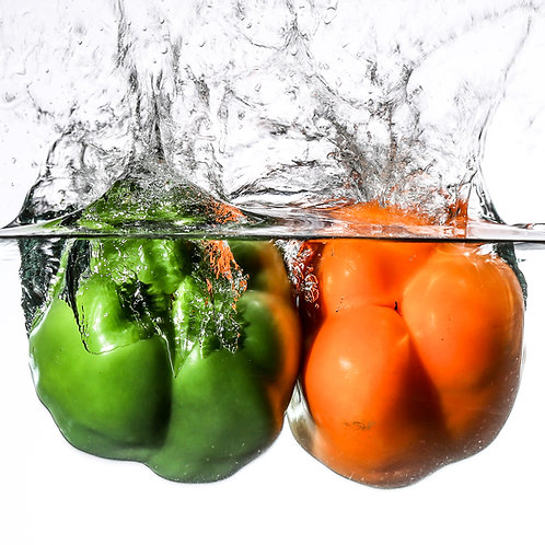 "Two peppers III - print 8x10"""