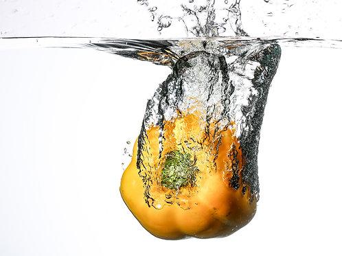 "Yellow pepper splash V - 8x10"" print"