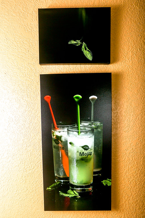 "Double Play - Mojito - Two canvas 32x16"" - 12x16"""