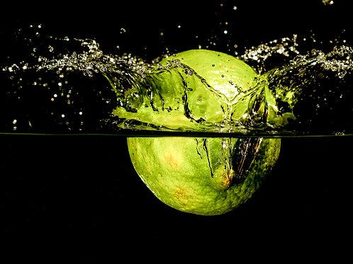 "Lime splash - 8x10"" print"