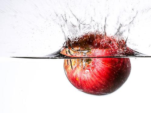 "Apple splash III - 8x10"" print"