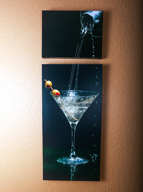 "Double Play - Martini - Two canvas 32x16"" - 12x16"""