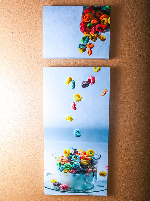 "Double Play - Cereal - Two canvas 32x16"" - 12x16"""