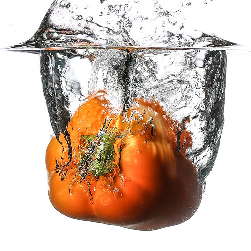 "Orange pepper IV splash - 8x10"" print"