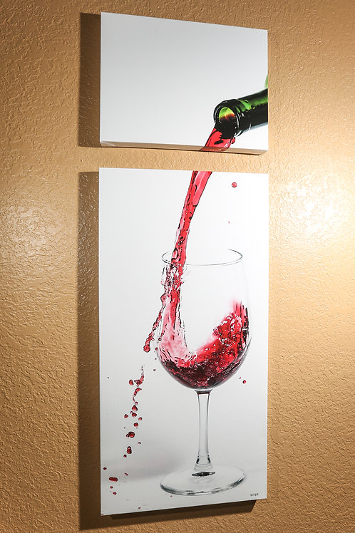 "Double Play - Wine - Two canvas 32x16"" - 12x16"""