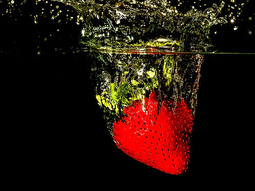 "Strawberry splash IV - 8x10"" print"