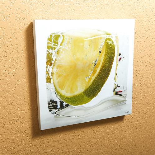"Ice cube - Lime - canvas 14x14"""