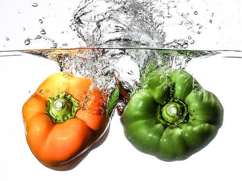 """Two peppers II - print 8x10"""""""