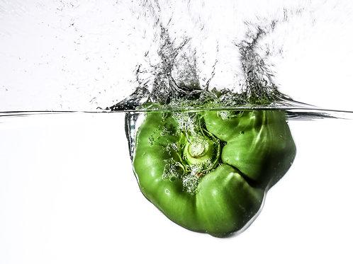 "Green pepper IV splash - 8x10"" print"