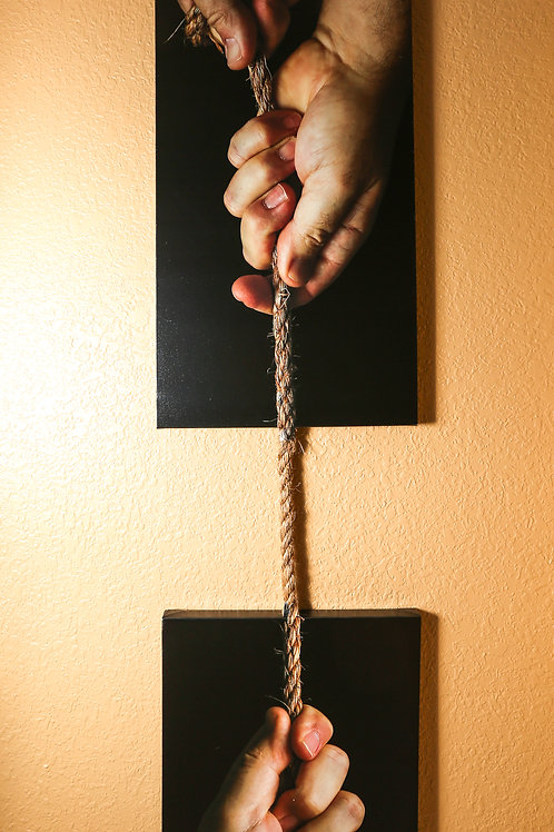 """Rope I - Two canvases 16x32"""" - 16x20"""""""