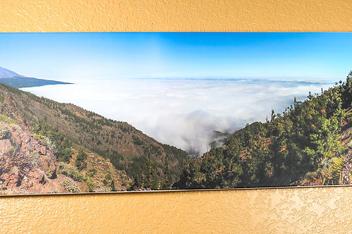 Picture over clouds - stretched canvas 48 x 16""