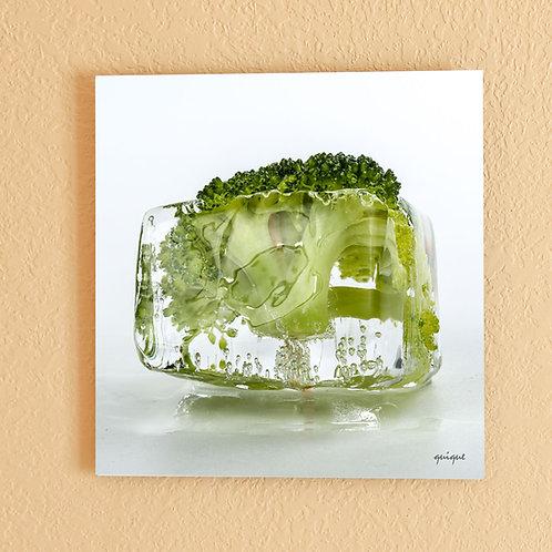 Ice cube Broccoli - metal print