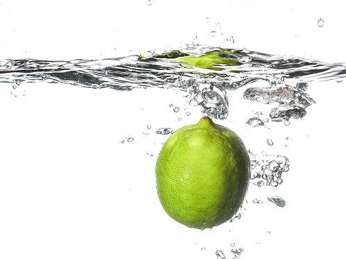 "Lime splash I - 8x10"" print"