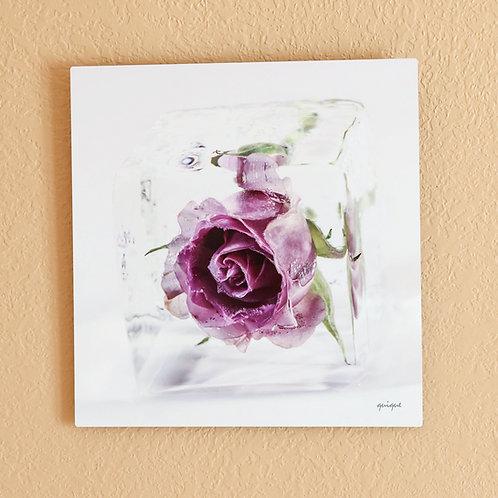 Ice cube with Purple Rose II
