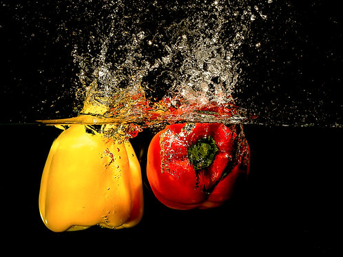 "Two pepper splash - 8x10""print"