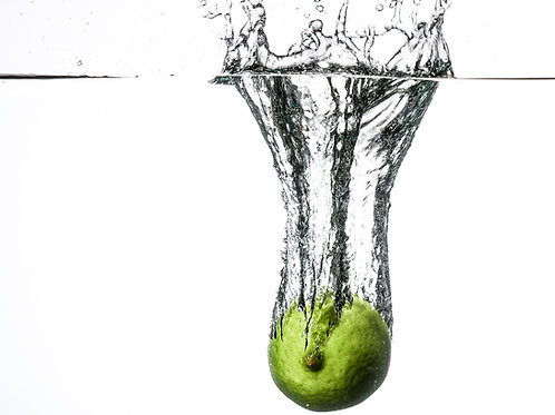 "Lime splash II - 8x10"" print"