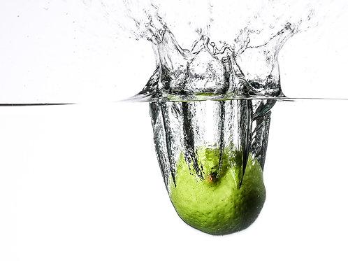 "Lime splash V - 8x10"" print"