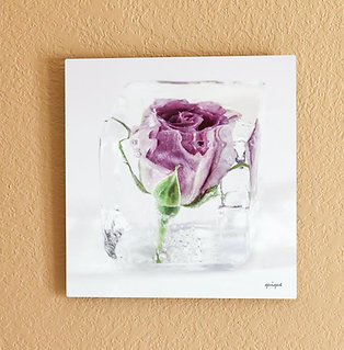 Ice cube with Purple Rose I